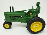 John Deere Toy Tractor Stamped 40th Anniversary 1965-1985 With Man 116