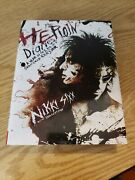 Signed The Heroin Diaries By Nikki Sixx. Motley Crue. 2007 Hardcover. Rare.