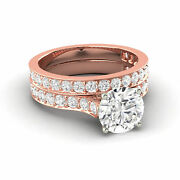 1.77 Carat D Natural Diamond Engagement And Wedding Set W Accents Made To Order
