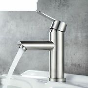 Faucet Stainless Steel Faucet Bathroom Mixer Tap Single Hole Hot And Cold Water