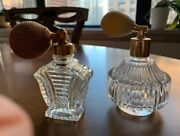 Vintage 40's And 60's Glass Perfume Bottles W/sprayers 2