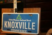 1980and039s Tennessee License Plate Union Planters National Bank Knoxville