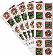 Lot Of 5 Holiday Wreaths Usps First Class Forever Christmas Books 100 Stamps