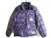 Auth Moncler Purple Womens Down Jacket Nylon Down Feather 0