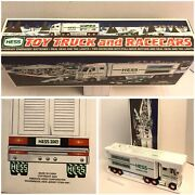 Hess Toy Truck And Racecars 2003 Gas Station Collectible Amerada Nib Nos A