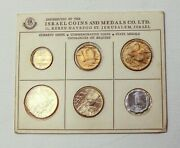 1963 Israel 6 Coin Set - Uncirculated Issued By The Bank Of Israel