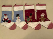 Pottery Barn / Pb Kids Quilted Christmas Stocking Lot, Set Of 4 Stockings Nwt