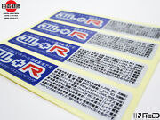 Japan Material Volk Racing Jwl+r High Quality Replacement Sticker R023