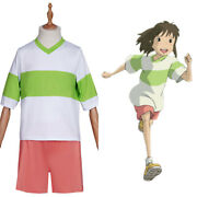 Spirited Away-ogino Chihiro Cosplay Costume T-shirt Shorts Carnival Suit Outfits
