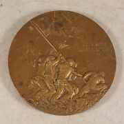 1945 Society Of Medalists Bronze Medal 31st Issue Iwo Jima / For Conquer We Must