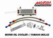 Morin Oil Cooler Kit Red For Yamaha M-slaz With Adapter And Braided Cables