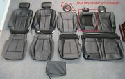 2015 - 2020 Oem Ford F150 Super Crew Take Off Black Leather Seat Upholstery Set