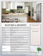 10x10 Forevermark Ice White Shaker Rta Solid Birch All Wood Kitchen Cabinets