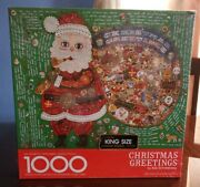 Vintage 1977 Authentic Springbok Puzzle 1000pc Christmas Greetings Still Sealed