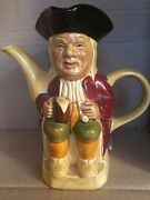 Vintage Toby Character Teapot by Wood And Sons Hj Woods Mark On The Bottom