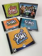 The Sims Online + 3 Expansion Packs And Sims 2 Pc-cd Bundle Ea Rated T - 11 Discs