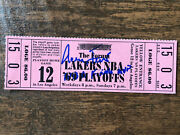 1969 Nba Finals Ticket Lakers Vs Celtics Clinched Game Jerry West Signed W Inscr