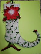 Krinkles White Poinsettia Stocking W Tag Patience Brewster Dept 56 Xmas Retired
