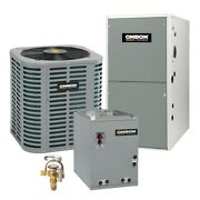 Oxbox - 3.5 Ton Cooling - 90k Btu/hr Heating - Air Conditioner + Single Speed...
