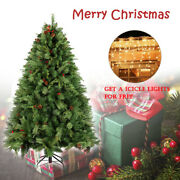 6.5/7.5ft Artificial Christmas Tree Holiday Decor 5m 200led Icicle Fairy Lights