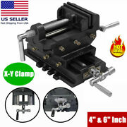 Cross Slide Vise 4 And 6and039and039 Wide Drill Press X-y Clamp Milling Heavy Duty 2 Way