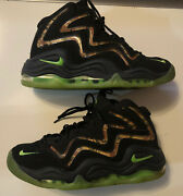 🔥 Nike Air Pippen Camoflague Black/flash Lime-anthracite 325001 002 Size 8 🔥