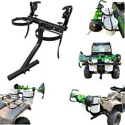 Bucket Carrier + Ice Auger Rack Mounts To Receiver Hitch On Atv Utv Ice Fishing