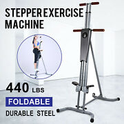New Maxi Vertical Climber Exercise Equipment Lcd Stepper Cardio Fitness Gym