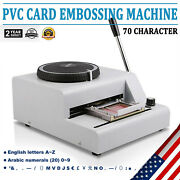 Embosser Stamping Machine 72 Character Pvc Credit Card Symbols With Punch Handle