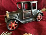 1920and039s Arcade Hubley Cast Iron Model T Ford Coupe Original Vintage Car 8 1/2andrdquo