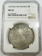 1873-mo Ngc Ms62 8 Reales Silver Mexico World Coins Item 26363b