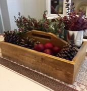 Wood Tool Caddy/tote, New, Farmhouse Inspired, Light Tones, Reclaimed Solid Pine