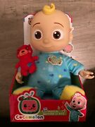 Cocomelon Musical Bedtime Jj Doll With Plush Tummy And Roto Head / Brand New