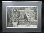 Signed Lithograph Central City Man And Dog By Seymour Rosofsky 1924-1981