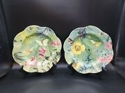 Spode Floral Haven Luncheon Salad Plates Set Of 2