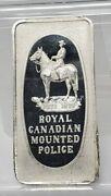 Royal Canadian Mounted Police .999 Fine Silver 1 Ounce Art Bar Great Lakes Mint