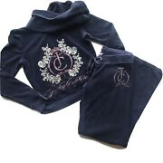 Juicy Couture Navy Terry Cloth Tracksuit