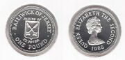 Jersey - Rare Silver Proof 1 Pound Coin 1986 Year Km68 St. Peter