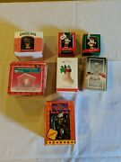 Lot Of 7 Hallmark Disney And Other Themed Christmas Ornaments And Decorations