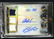 Blake Snell / Lowe / Meadows 2020 Topps Triple Threads Combo Auto 11/36 Rays