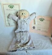 Vintage Preemie Little People Soft Sculpture Cabbage Patch Doll 1985 Papers Girl