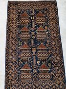 Antic Handmade Carpet From Afghanistan Made Of Sheep And Wolf