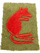Ww2 British 7th Armoured Corps Desert Rats Formation Patch 2