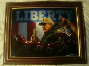 Newly Framed Alabama Canvas Liberty 36/102 By Daniel Moore - Bear Bryant