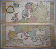 A New And Accurate Map Of Europe - Kitchin / De Vaugondy 1772 - Rare Large Map