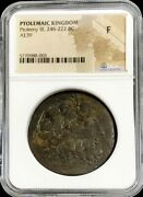 246-222 Bc Greek / Egypt Ptolemaic Kingdom Ae 39 King Ptolemy Iii Coin Ngc Fine