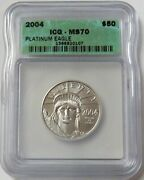 2004 Platinum 50 Statue Of Liberty 1/2 Oz Coin Icg Mint State 70