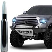 Chrome With White Tip Bullet Antenna For Toyota Tundra And Tacoma All Years