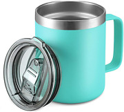 12oz Stainless Steel Insulated Coffee Mug With Handle, Double Wall Vacuum Travel