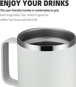 Meway 12oz Coffee Mug With Handle,stainless Steel Insulated Travel
